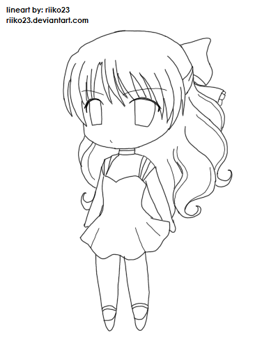 Anime chibi girl with brown hair 399 494 for How to draw good sketches