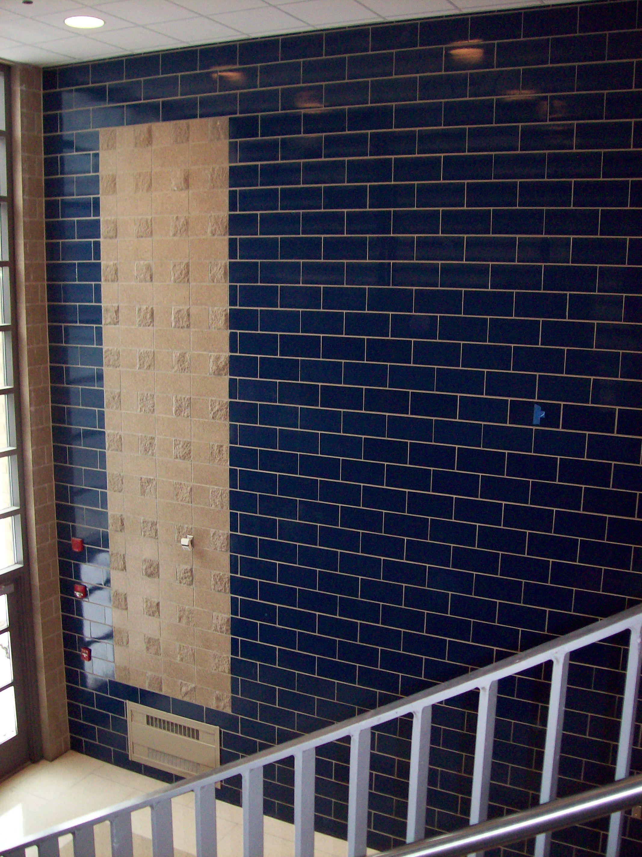 Interior Wall System With Structural Glazed Tile 2200a Cobalt Blue 8w Series 8x16