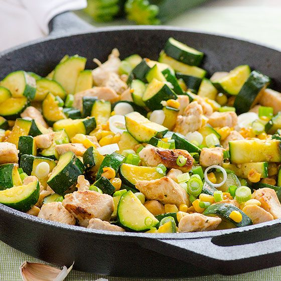 Garlic Chicken Zucchini And Corn Ifoodreal Delicious Clean Eating Recipes Delicious Clean Eating Healthy Recipes Healthy