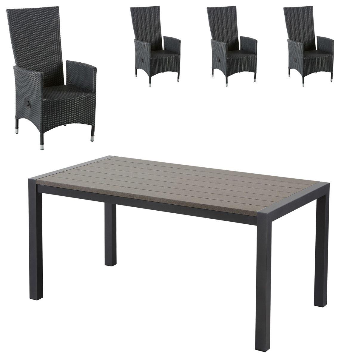 Gartenmöbel Set Antonia/Rio Grande (87,7x158, 4 Stühle) Jetzt