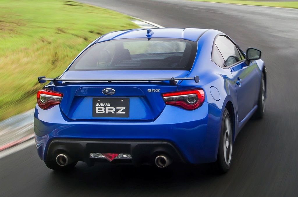 2017 Subaru Brz Blue Color Tailpipe