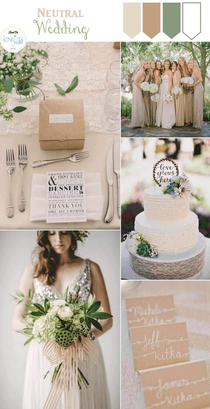 Neutrale Hochzeitsinspiration   – Wedding