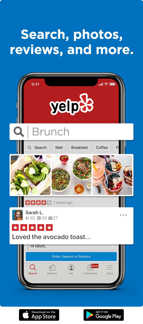 Download Yelp to find cool new spots, browse photos, read