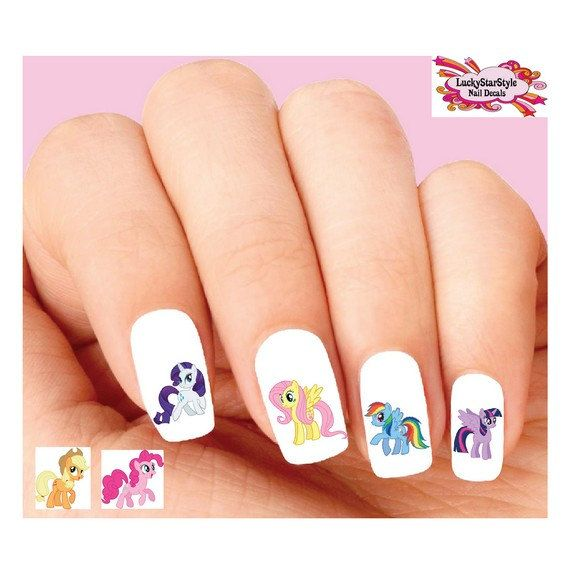 Waterslide Nail Decals Set Of 20 My Little Pony Orted