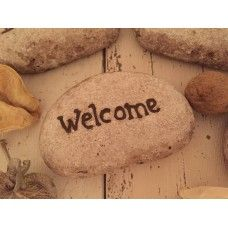 Welcome stone pebble £1.95