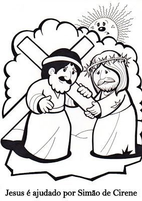 Amiga de Jesus: Via-Sacra para colorir