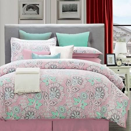 Flower power teen girls bedroom