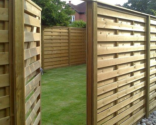 Horizontal Hit And Miss Fence Panels Garden Fence Panels Fence