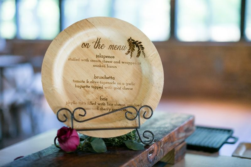 Carved Wooden Plate Menu | Kickstand Studio