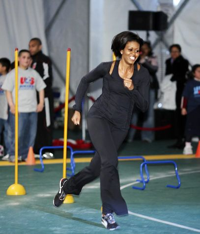 Michelle Obama...one of my fitness inspirations. If she can do it, I definitely can! I love she!