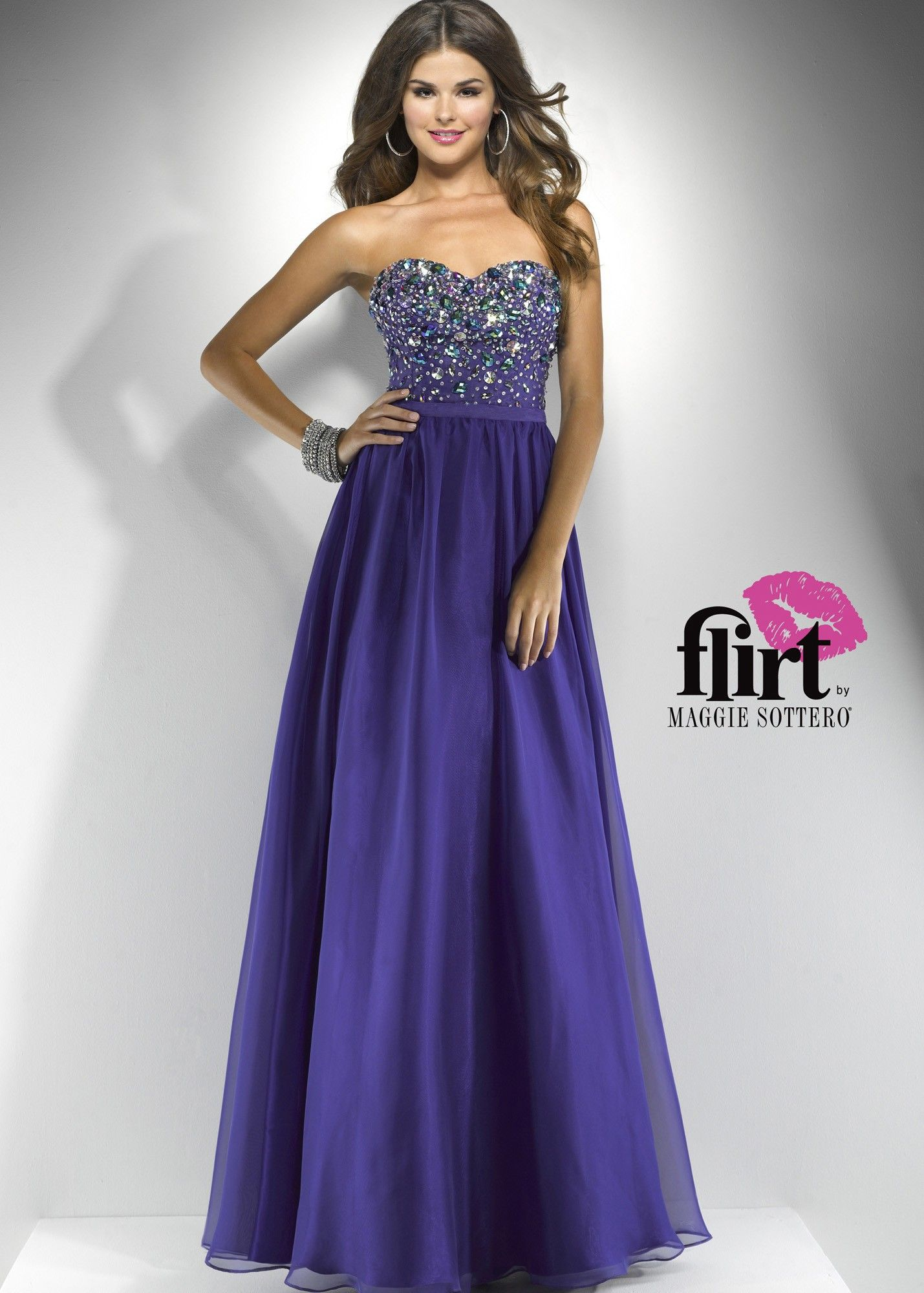 Flirt by maggie sottero p purple chiffon dress wedding ideas