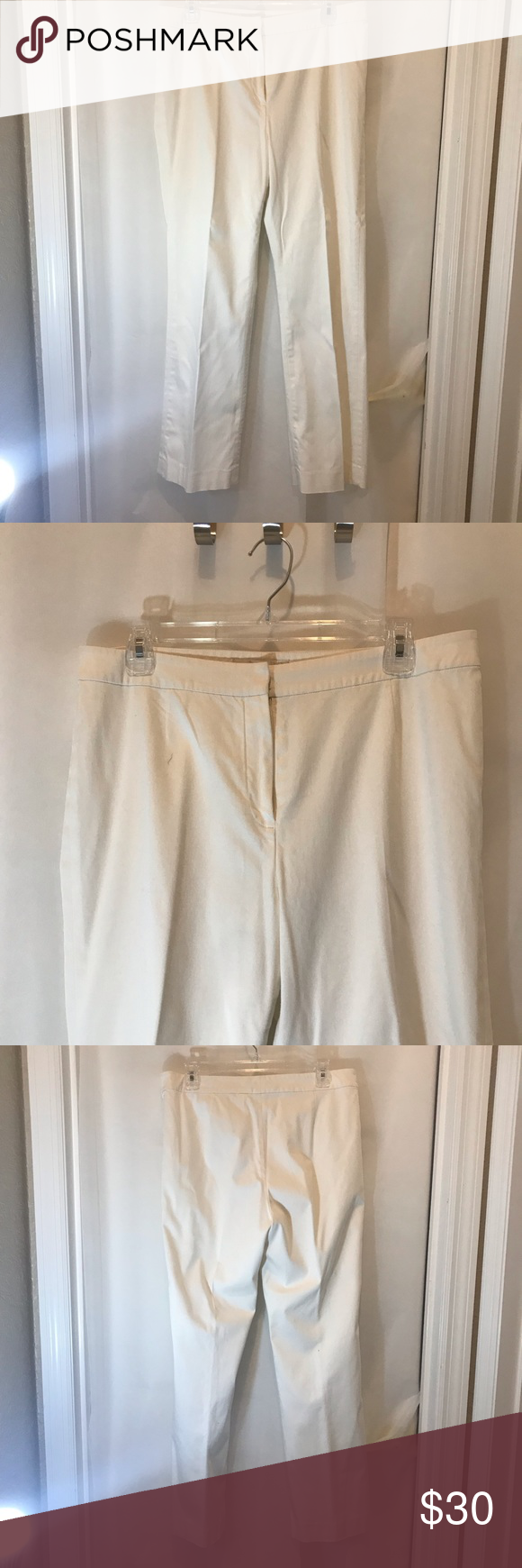 "Evan Picone white slacks, fully lined 8P White slacks with silky white lining, size 8P, run a little big. Recently dry cleaned. 28"" inseam. Evan Picone Pants #whiteslacks Evan Picone white slacks, fully lined 8P White slacks with silky white lining, size 8P, run a little big. Recently dry cleaned. 28"" inseam. Evan Picone Pants #whiteslacks Evan Picone white slacks, fully lined 8P White slacks with silky white lining, size 8P, run a little big. Recently dry cleaned. 28"" inseam. Evan Picone #whiteslacks"