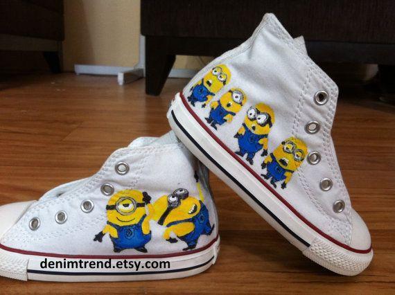 caed827c7ca16 Minion Converse Shoes | mixbox | Minion shoes, Converse shoes ...