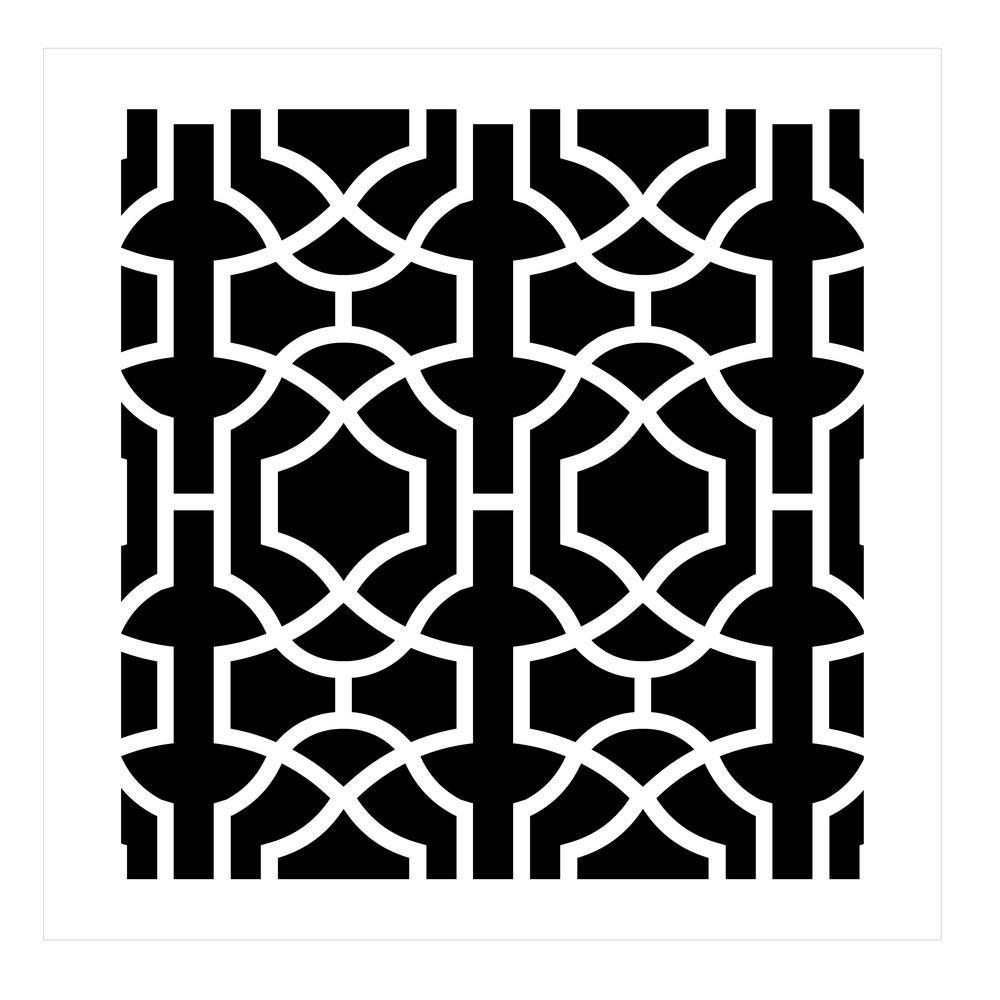 Designer Stencils Moroccan Trellis All Over Stencil Pattern 10 Mil Plastic Fs065 Stencil Painting On Walls Wall Stencil Patterns Damask Stencil
