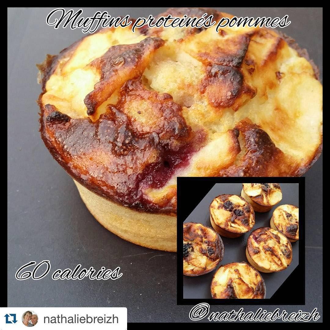 Des muffins très peu caloriques fondant et proteinés a 60 calories : 0,2 lipides , 8,4 glucides, 6,6 protéines .  50 g compote pomme . 40 g farine de riz  3 blanc d'oeuf  30 g de protéine vanille  1/2 pomme  1/2 cc levure.