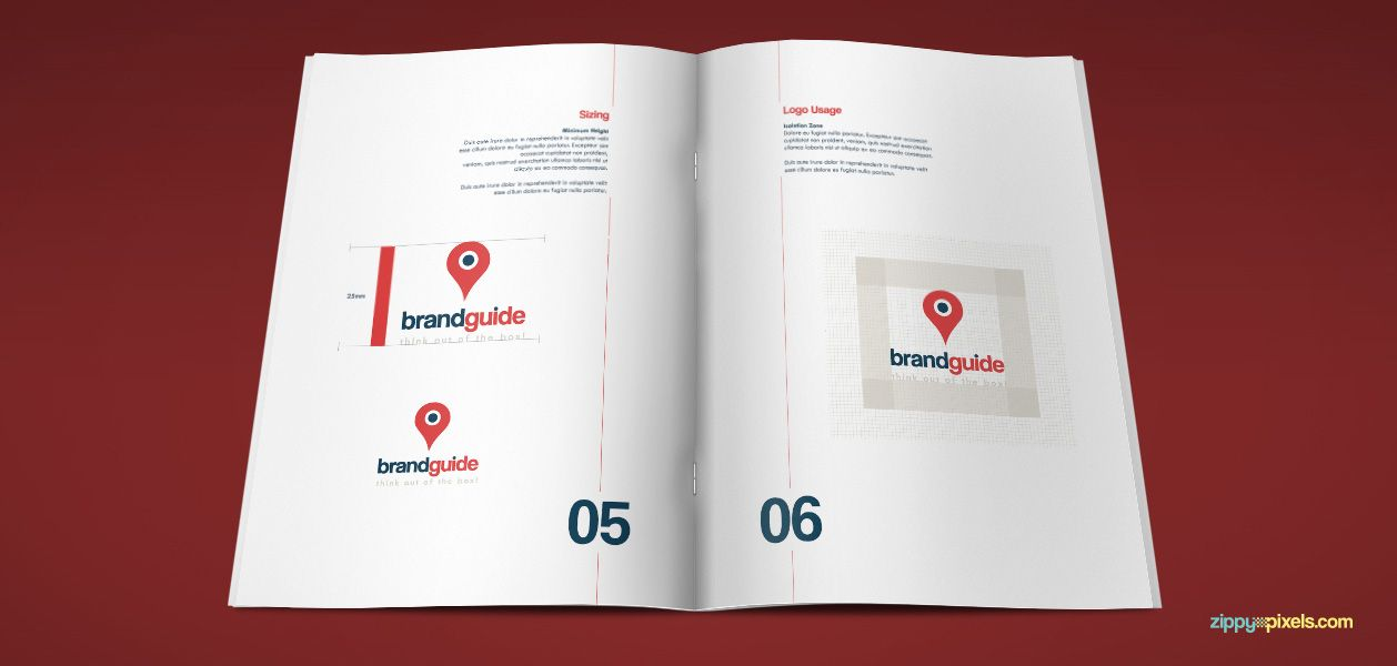 website and web app brand book by zippypixels brand book brand identity template brand guidelines indesign corporate identity logo identity