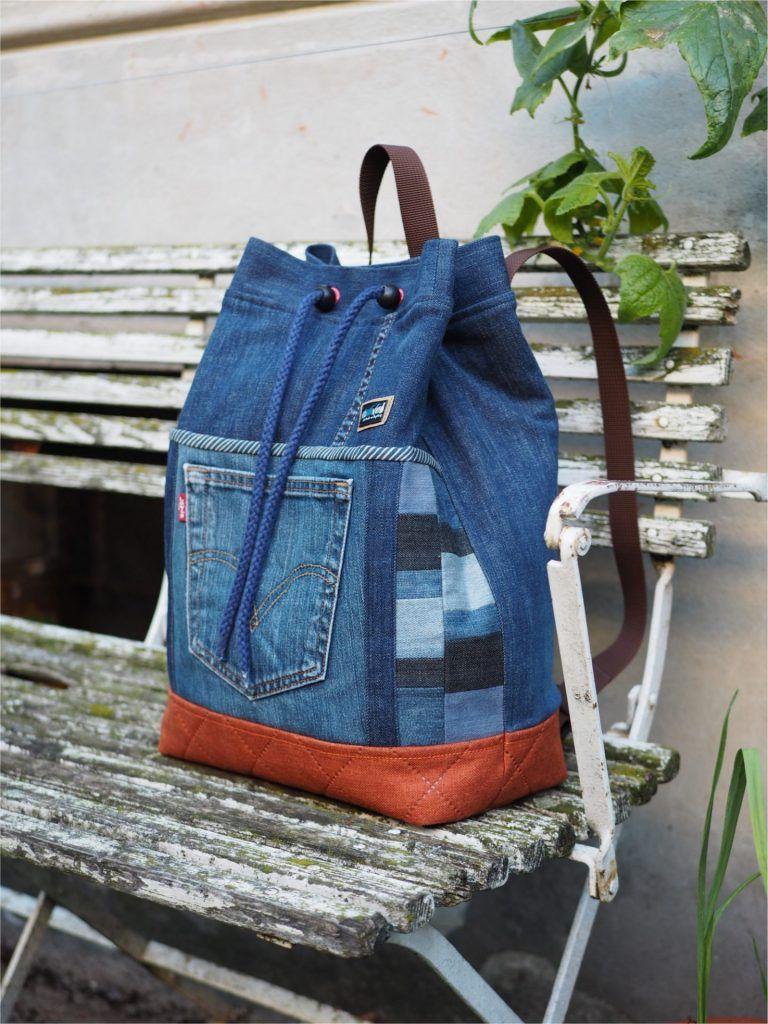 Bolso mochila – Jeans upcycling | weisnähschen