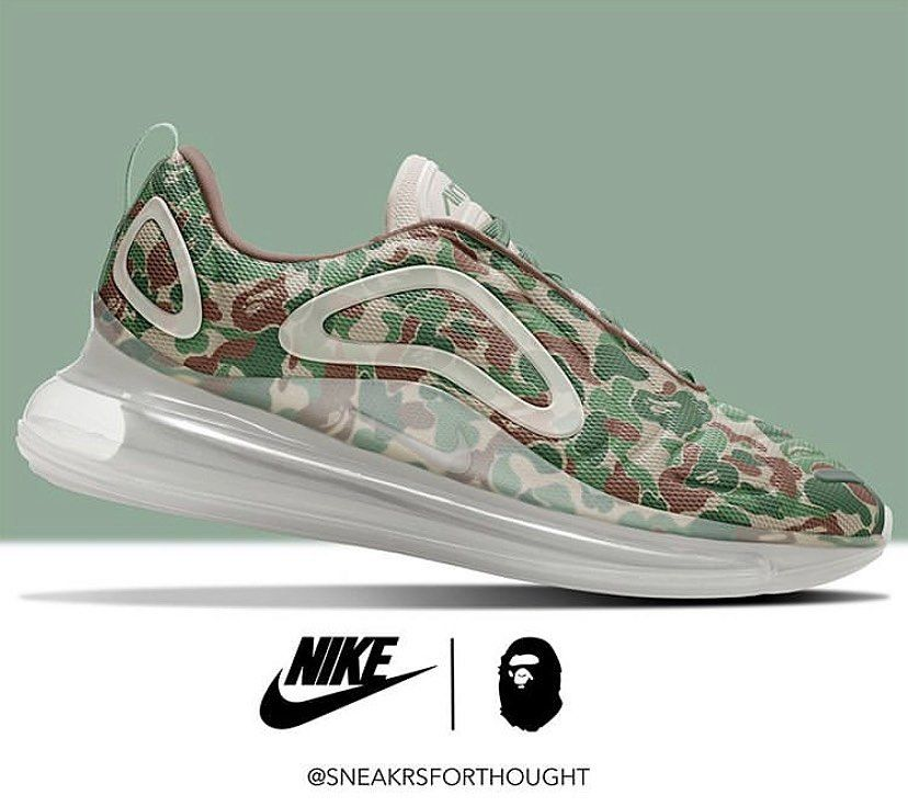 Bape x Nike Air Max 720 Concept By @sneakrsforthought