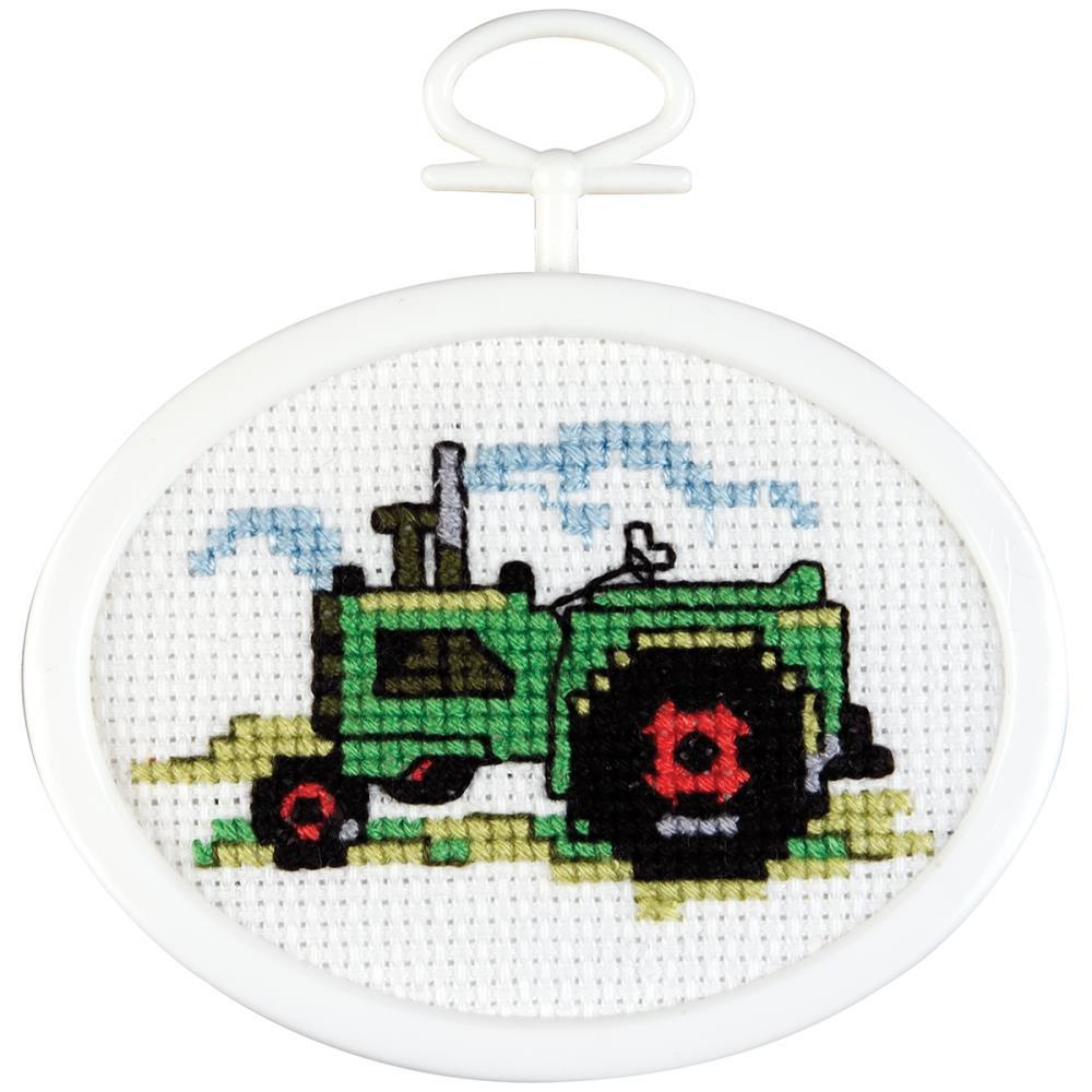 Tractor Mini Counted Cross Stitch Kit-2.75\