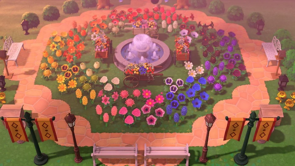 Rose Garden Ideas Animal Crossing