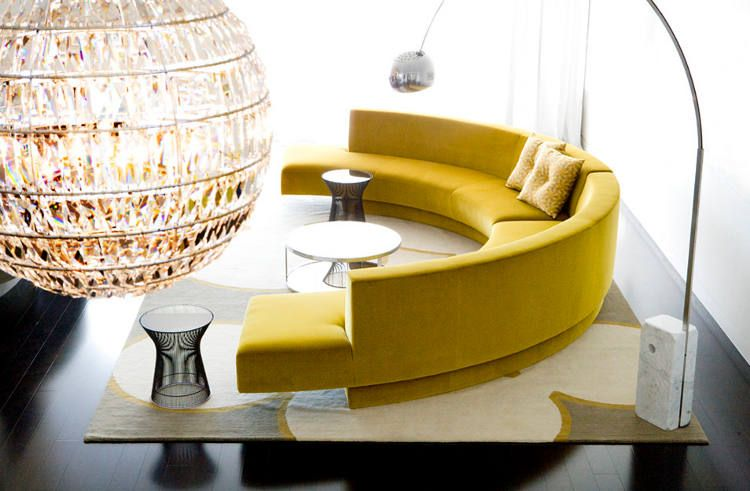 20 Round Couches That Will Steal The Show Round Couch Curved Sofa Round Sofa