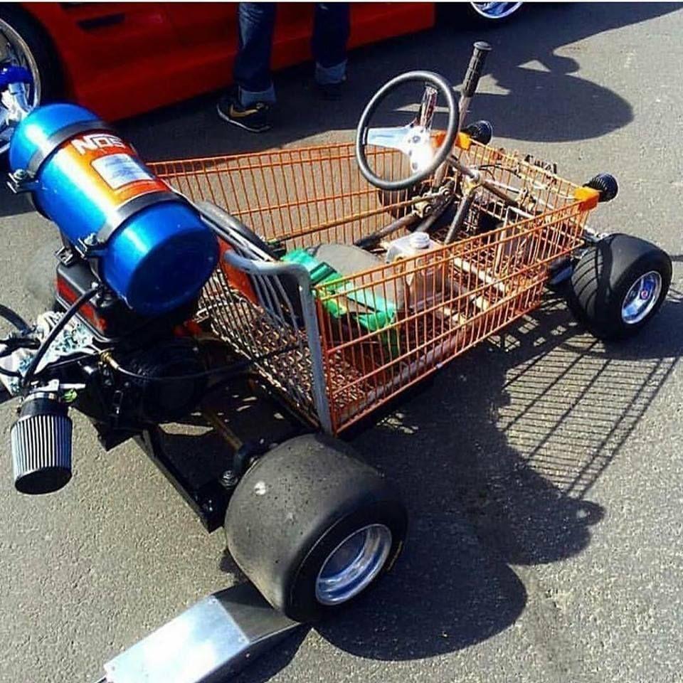 Shopping Kart Diy go kart, Homemade go kart, Go kart