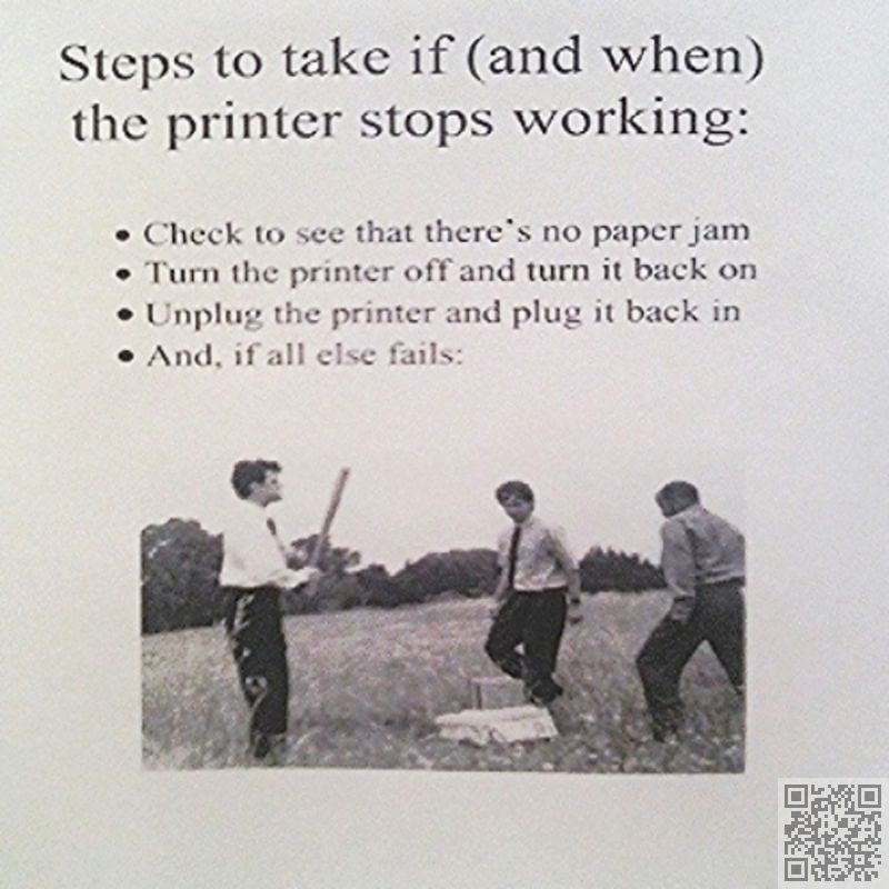 9. #F@#$*ing Printer! - 23 #Hysterically Funny Office #Notes ... → Funny #Funny