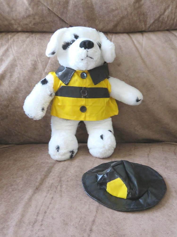 Sold Firefighter Soft Plush 10 Dalmatian Firehouse Dog