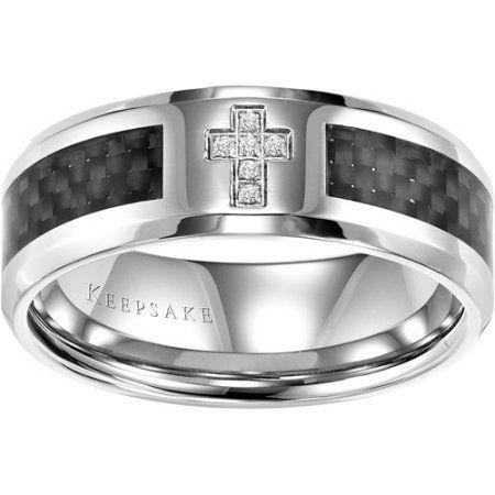 Keepsake Men S Jonas Diamond Accent Stainless Steel Wedding Band 8mm Walmart C Stainless Steel Wedding Bands Mens Diamond Wedding Bands Mens Diamond Wedding