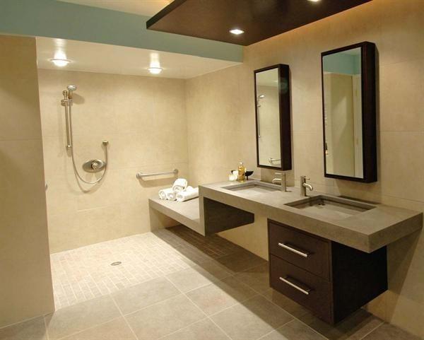 Behindertengerechte Bad Design #Badezimmer #Büromöbel #Couchtisch