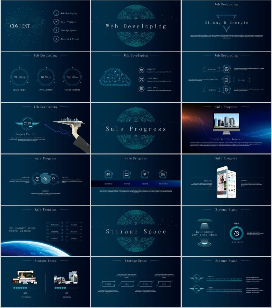 Best smart technology PowerPoint template Powerpoint