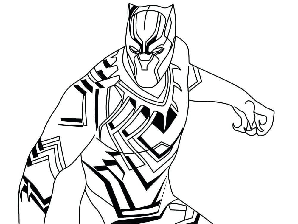 Black Panther Coloring Pages Superhero Coloring Pages Black