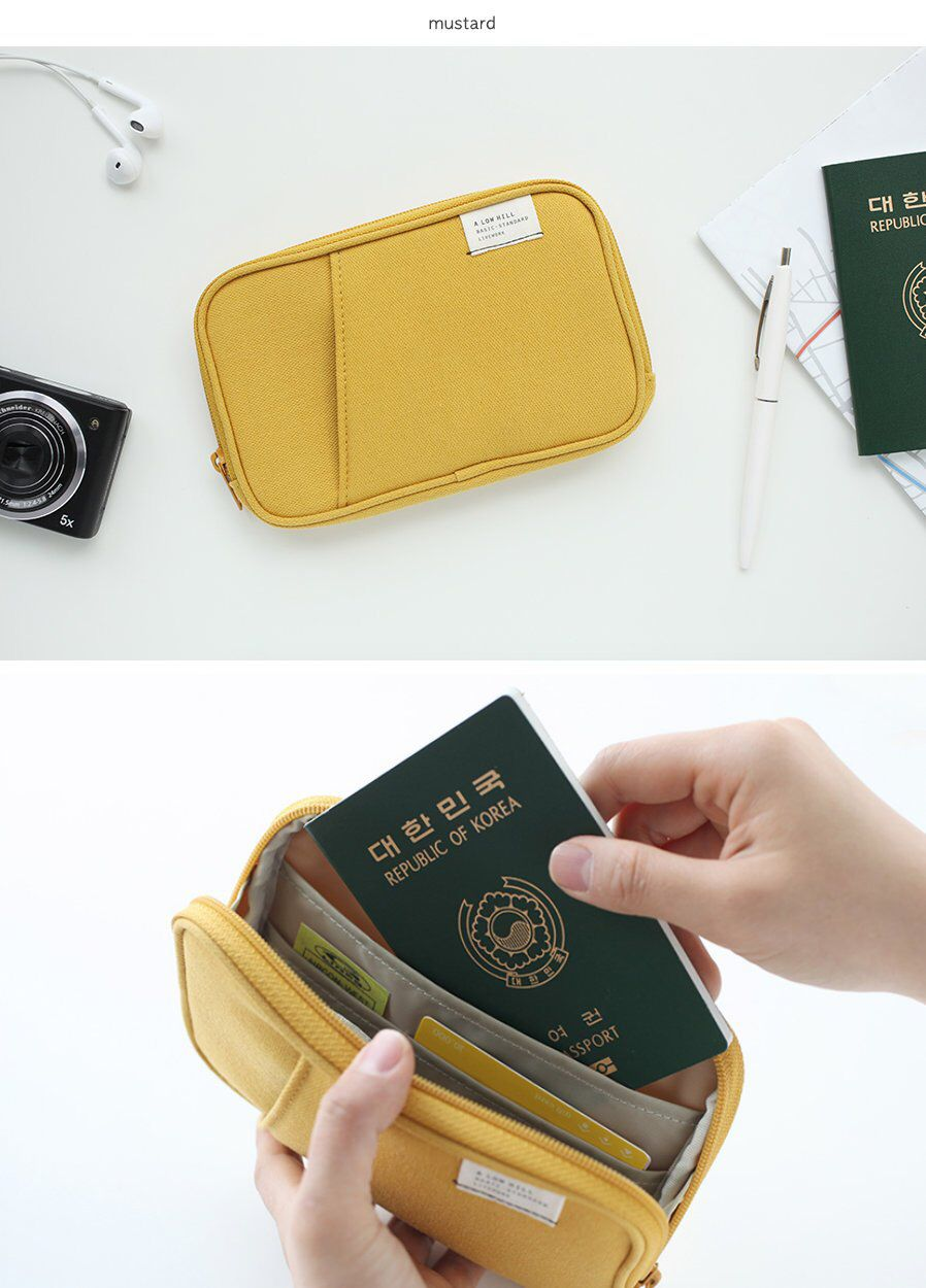 Pocket Daily Pouch / Passport Cover / Trip Wallet / Travel