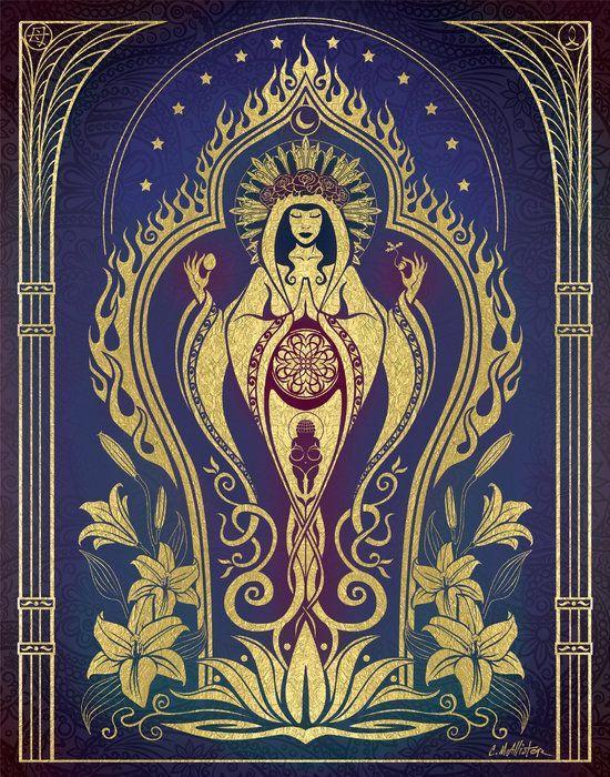 Sacred Mother - Global Goddess Series Print By Cristina Mcallister