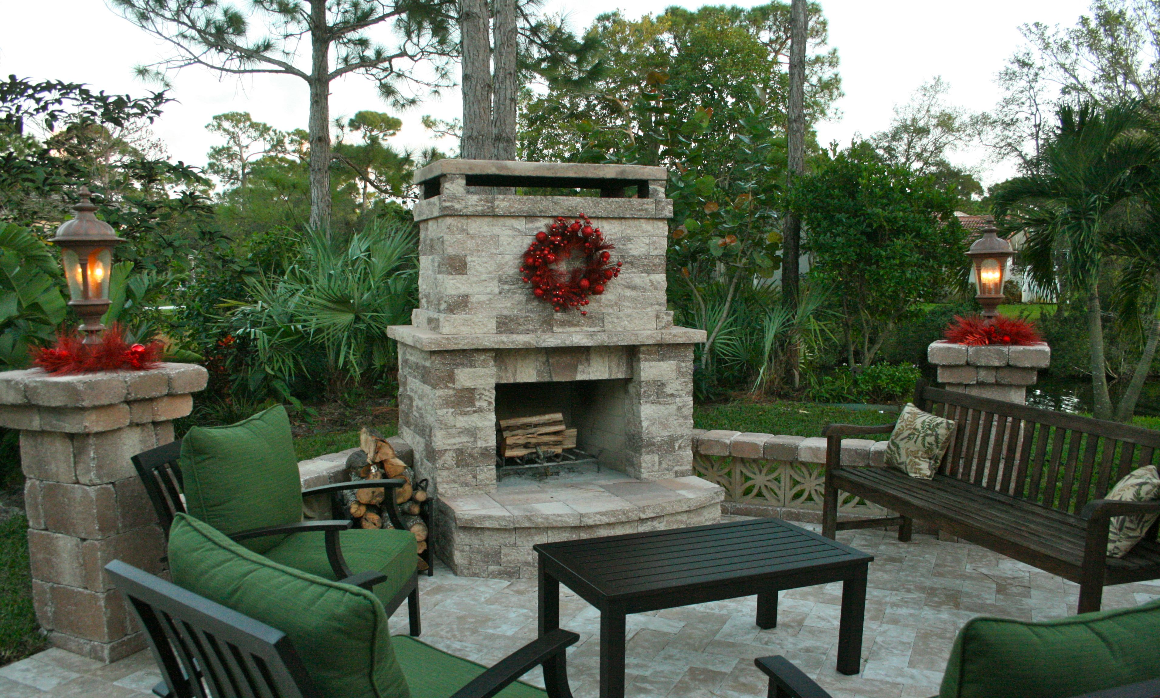 Tampa Bay Pools Outdoor Living Fireplace Custom