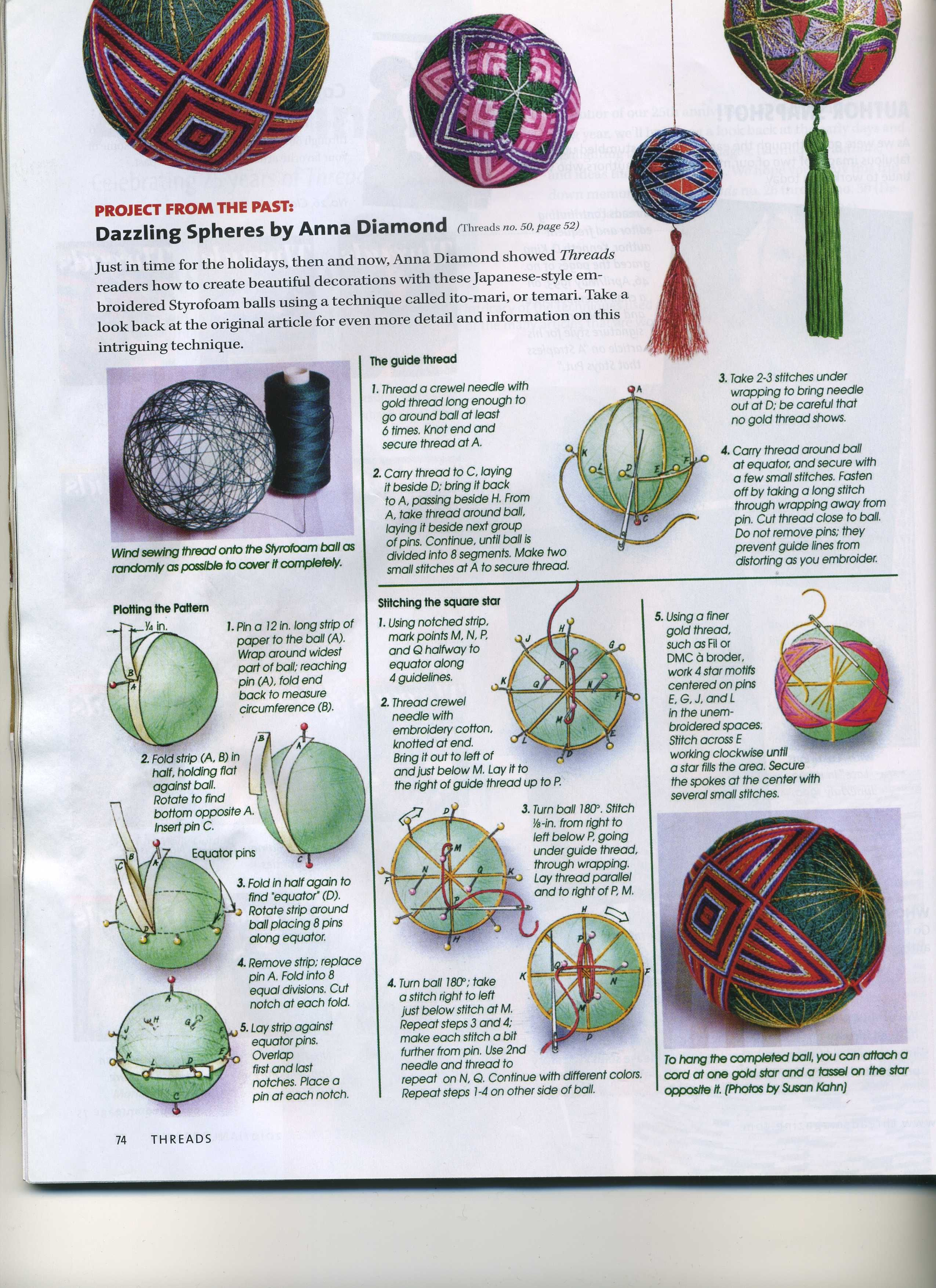 Temari Balls Threads Magazine Temari Temar