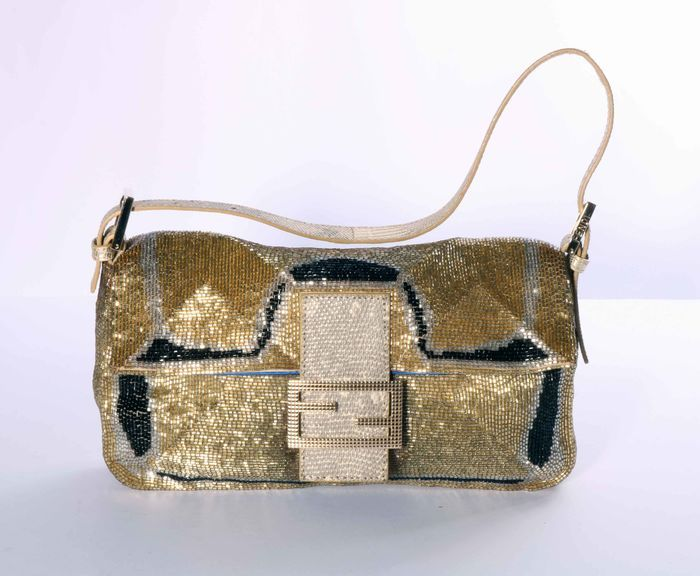 7c557ee7b69 Catawiki online auction house  Fendi Baguette with Lizardskin Detail and  Beads