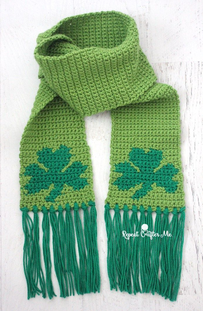 Don\'t be caught without green this St. Patrick\'s Day! This Crochet ...