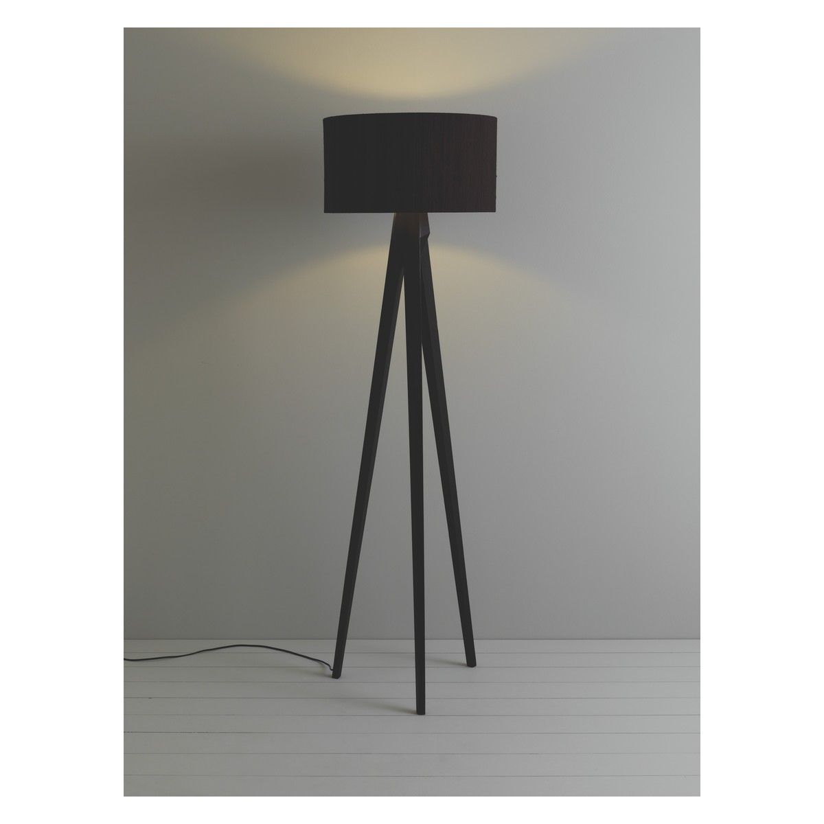 Tripod dark stained wooden tripod floor lamp with black shade tripod dark stained wooden tripod floor lamp with black shade buy now at habitat uk geotapseo Choice Image