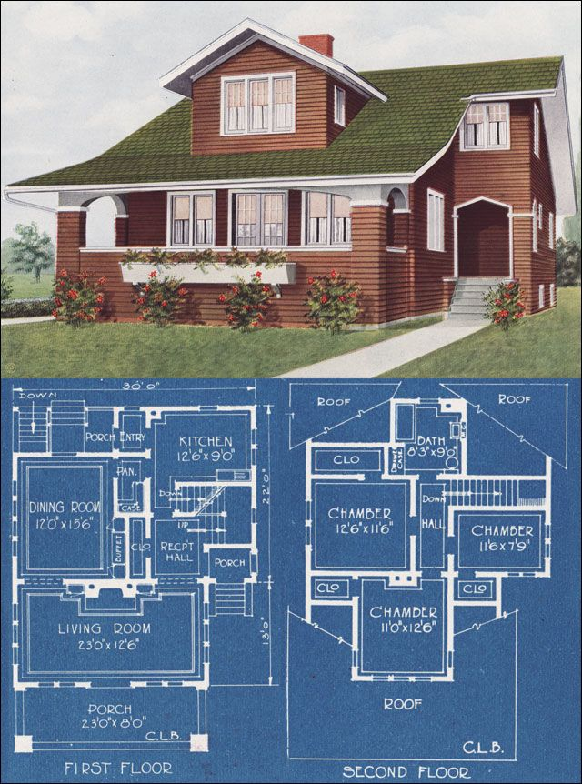 1921 Modern Bungalow Type House C L Bowes American Homes