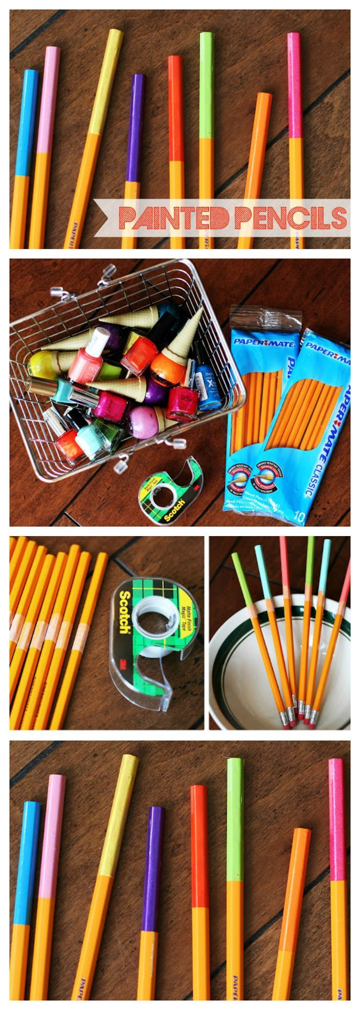 Painted Pencils | Fun Back to School Project the kids will love!