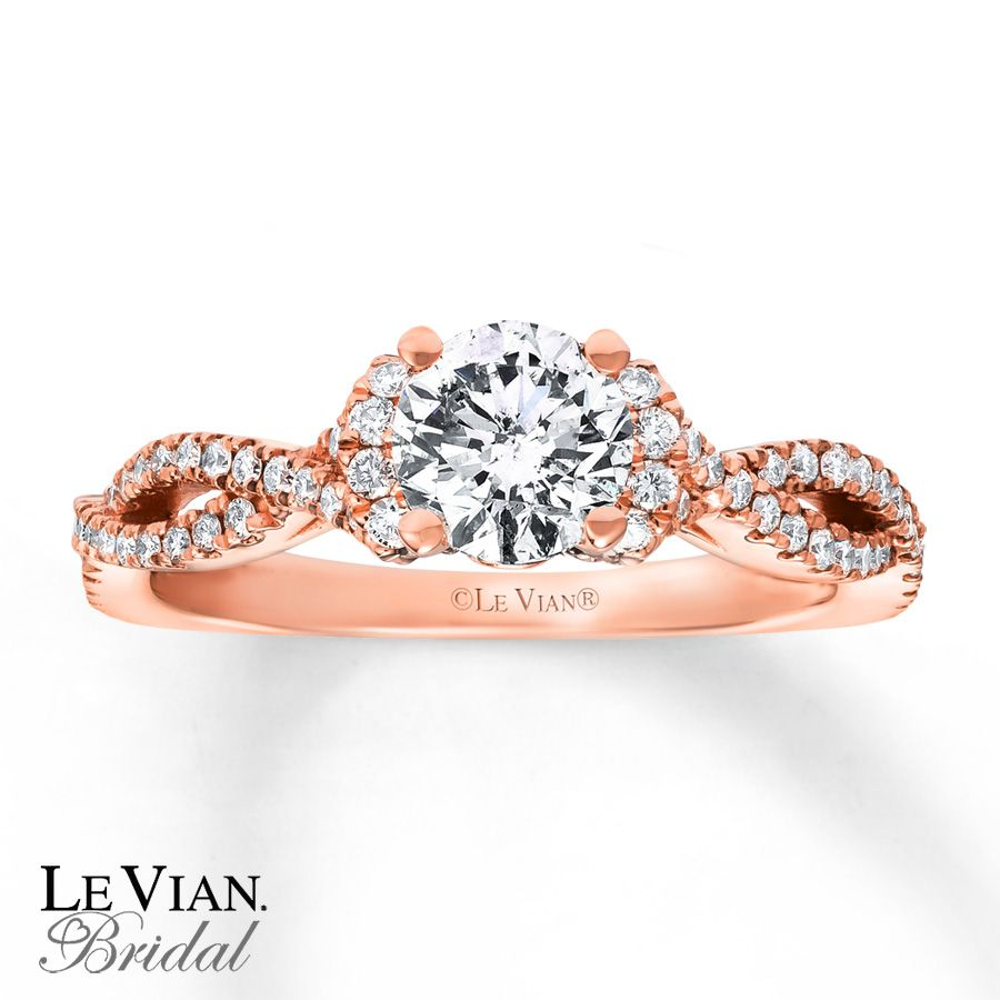 and in set le rings w bridal wedding ct gold rose vian chocolate white media diamond t ring tw