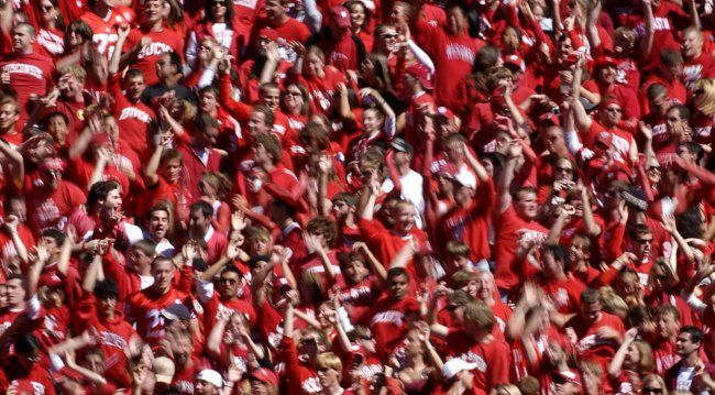 """This tradition begain in 1998 when 80,000 Badgers fans were treated to """"Jump Around"""" at Camp Randall Stadium. Ever since, a sea of red has always bounced at home games. The tradition is so important to Wisconsin football that even when administrators—for whatever reason—tried to get the song banned from games, the chancellor of the school shot down the proposal, keeping the song, and routine, intact. Jump around comes in at about 40 seconds."""