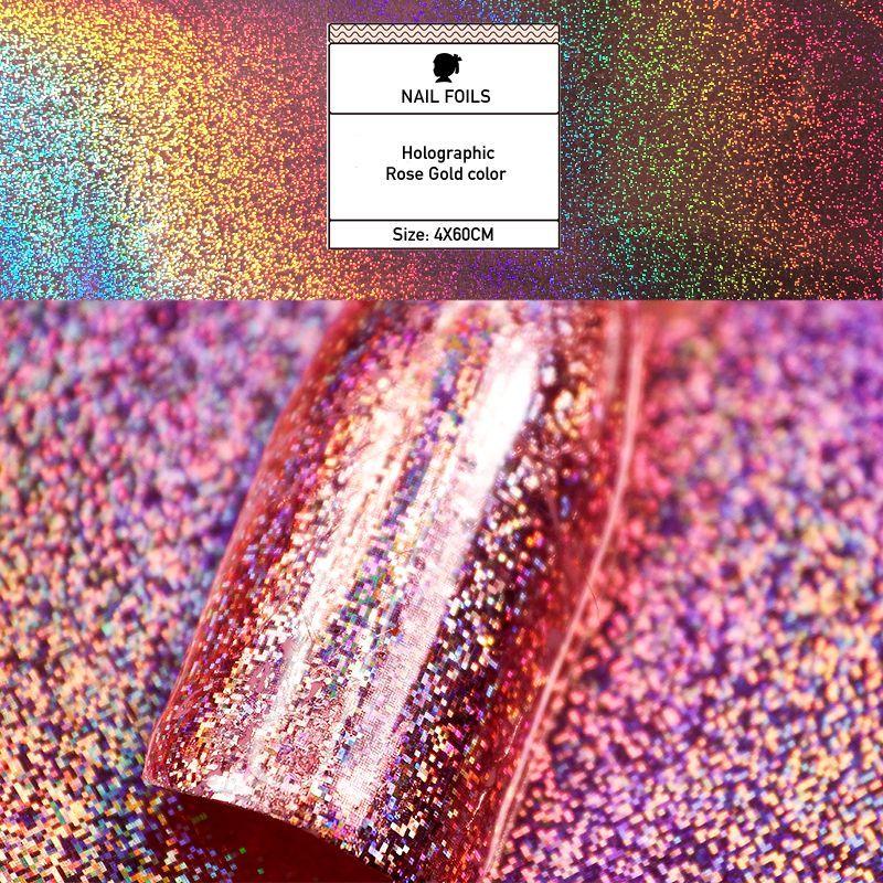 #transfer #rainbow #galaxy #chrome #nails #foils #rose #gold #hoho #nailRose gold galaxy hoho nail Rainbow chrome nail Nails Transfer Foils #chromenails