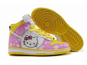 Nike Dunk High Top Hello Kitty Brass Monki Shoes