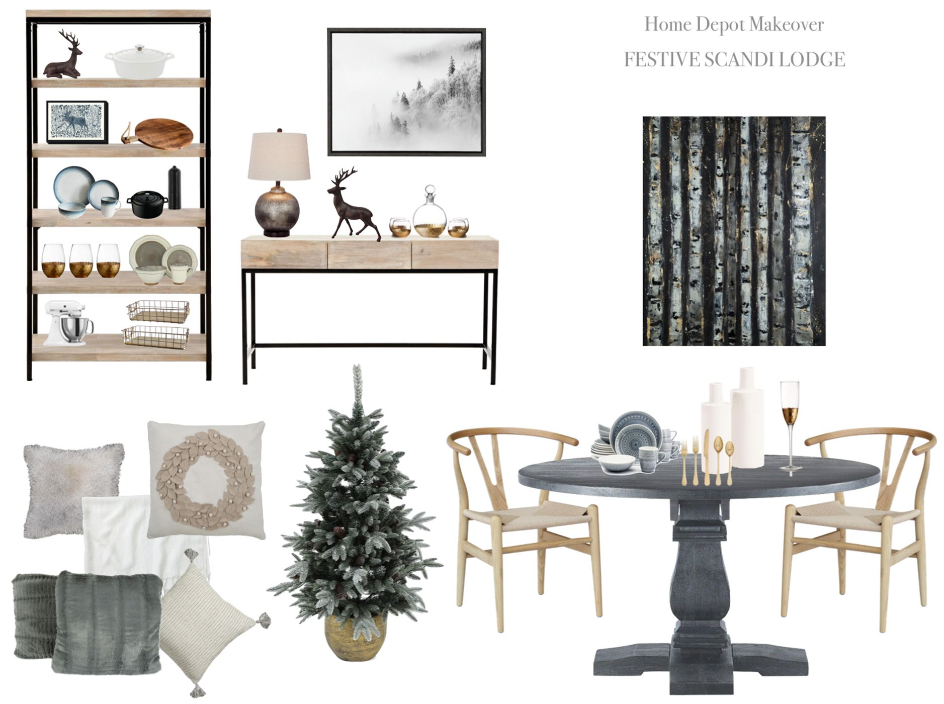 Winter Dining Room Makeover Inspiration Moodboard Home Depot