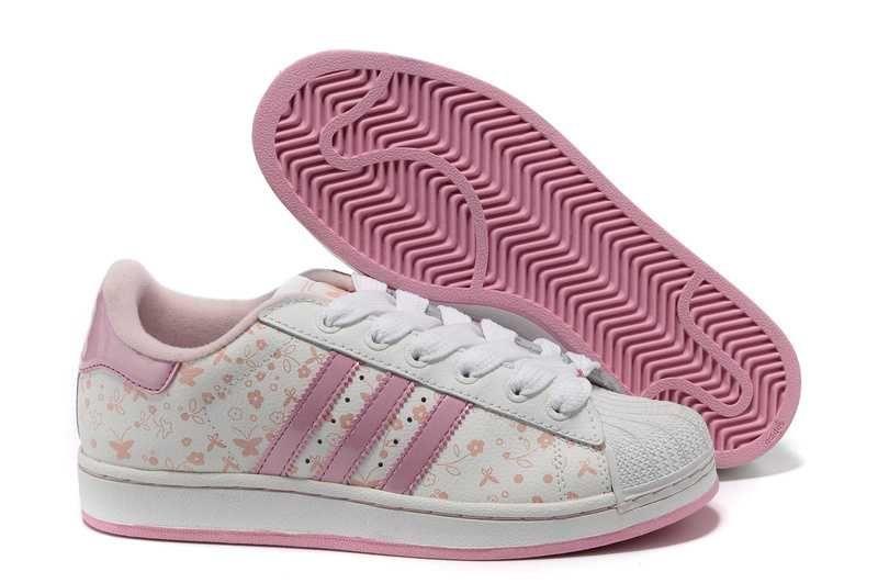 Adidas Superstar II mariposas blancas flor color de rosa caliente zapatillas