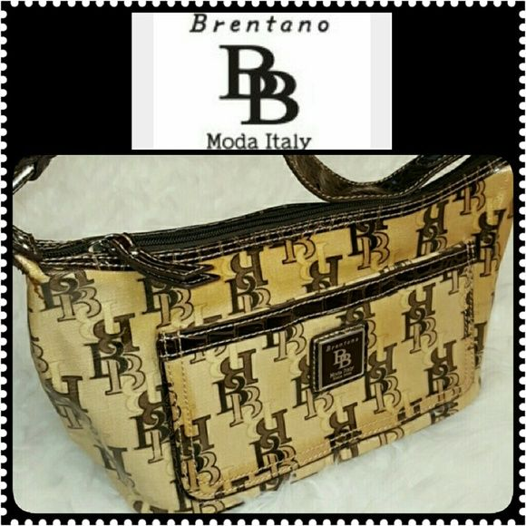Brentano Designer Handbag Moda Italy Like New Fully Lined Fabric Logo
