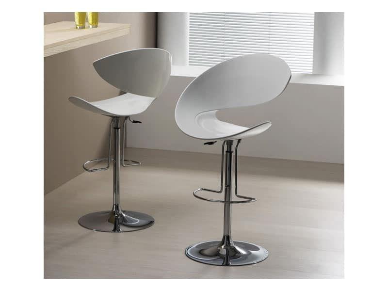 Twist sg h sgabello design girevole con poggiapiedi per cucina