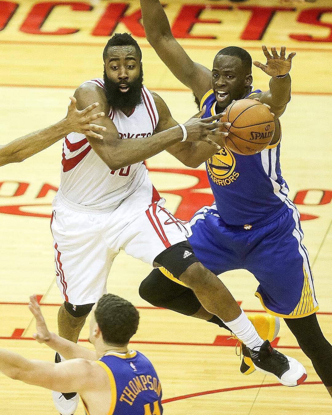 a0879e1a10d4 James Harden battles against Warriors guard Shaun Livingston in the final. James  HardenHouston RocketsGolden State Warriors